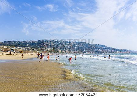 REDONDO BEACH USA - JULY 7: people enjoy the beach on July 7 2008 in Redondo Beach USA. Redondo Beach was originally part of the 1785 Rancho San Pedro Spanish land grant that later became the South Redondo area.