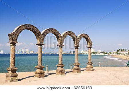 Los Arcos Amphitheater at Pacific ocean in Puerto Vallarta, Mexico
