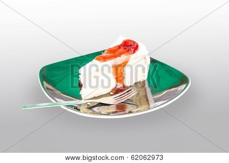 Cheesecake Isolated