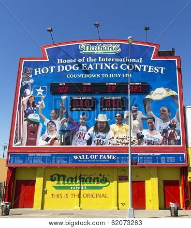 The Nathan's hot dog eating contest Wall of Fame
