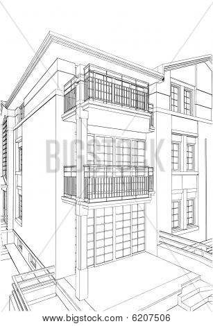 Residential House Vector 01