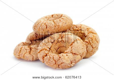 a pile of roscos de almendra, almond donuts typical of Andalusia, Spain poster