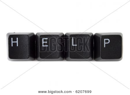 Help Spelled On Keyboard Black