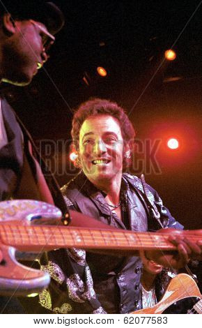 WASHINGTON, D.C.  21 SEPTEMBER 1994 --- New Jersey born rock star Bruce Springsteen plays to a sell-out crowd at the Meadowlands Arena.