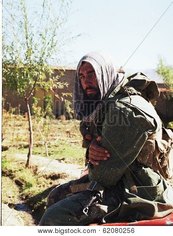 KABUL - OCT 21: Northfoto Alliance fighters prepare for battle with Taliban forces north of Kabul, Afghanistan on Monday, October 21, 1996