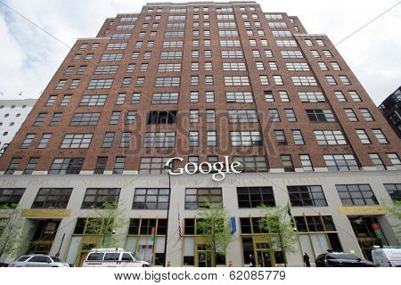NEW YORK CITY - APRIL 19: A general exterior view of the offices of Google in New York City, on Friday, April 19, 2013.