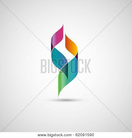 Abstract shape, ribbons, eps10 vector