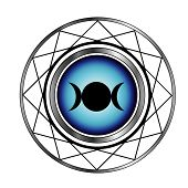 Triple goddess moon symbol- Wiccan symbol with a glow poster