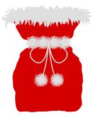Red St Nicholas bag on white background poster