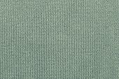 background of abstract texture of woolen or knitted fabric weaved from a pale green yarn poster