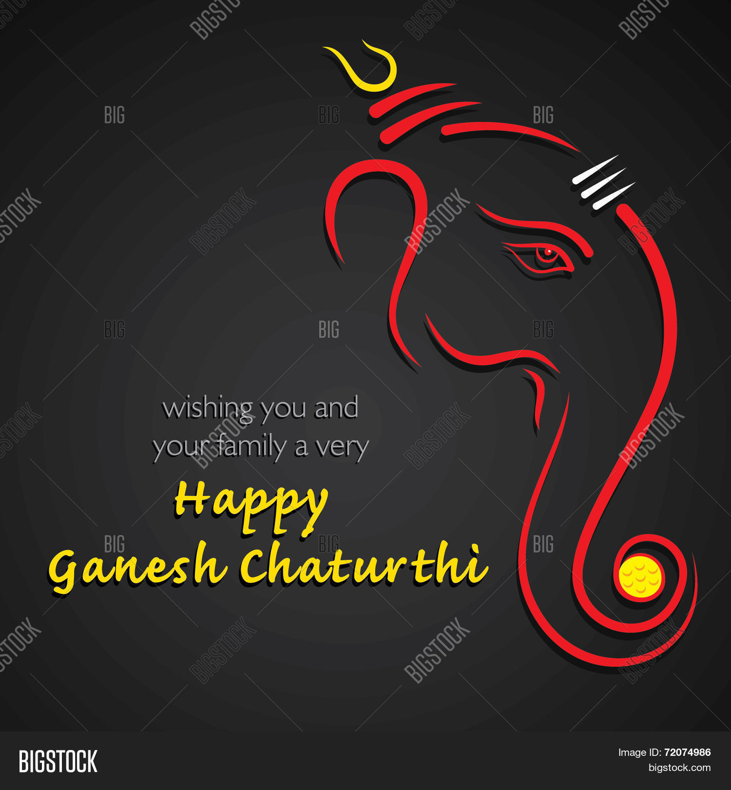 Happy ganesh vector photo free trial bigstock happy ganesh chaturthi festival greeting card background vector m4hsunfo