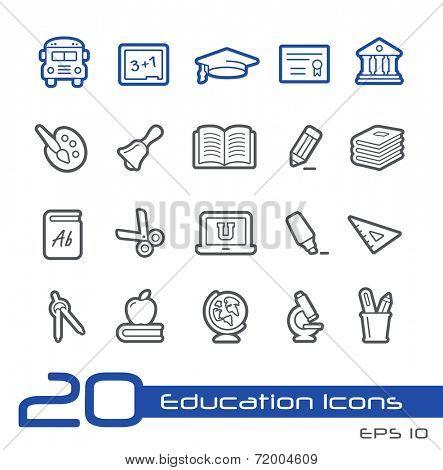 School & Education Icons // Line Series