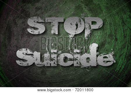 Stop Suicide Concept