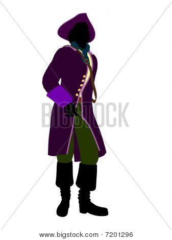 Captain Hook Silhouette Illustration