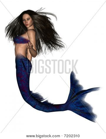 Dark Haired Mermaid