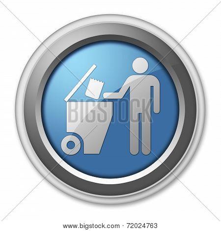 Icon, Button, Pictogram Trash Dumpster