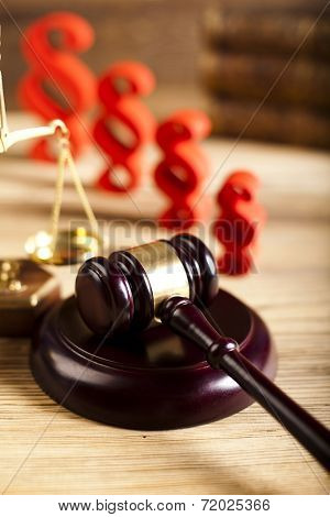 Law and justice concept, paragraph and scales