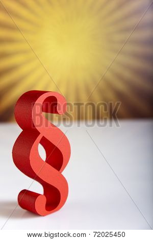 Paragraph sign symbol