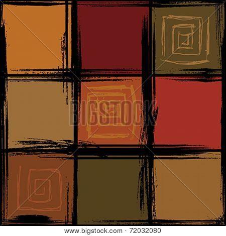 Seamless dark checked pattern. Vector illustration.