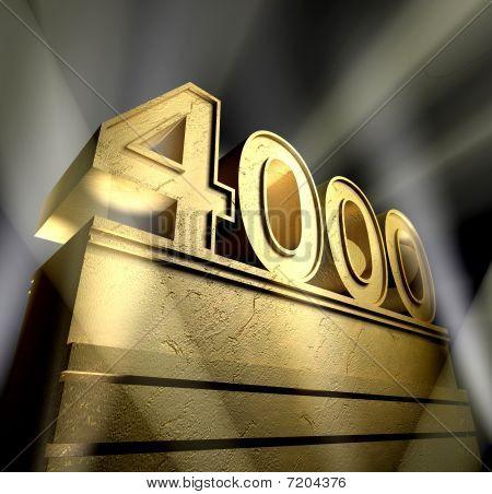 Number 4000