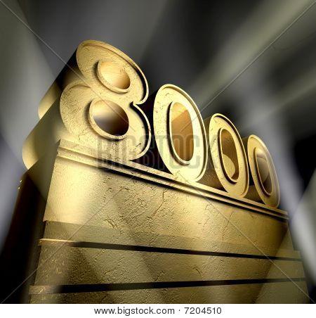 Number 8000