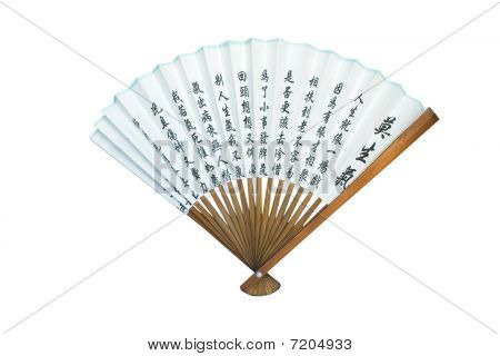 Asian Fan Isolated