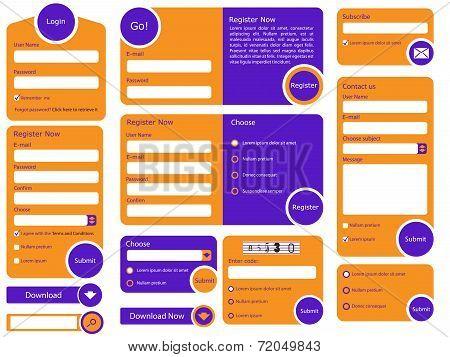 Trendy Flat Web Form Design