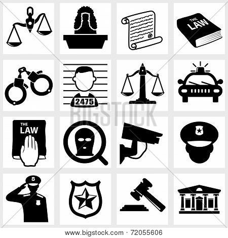 Court icon vector black on white background poster
