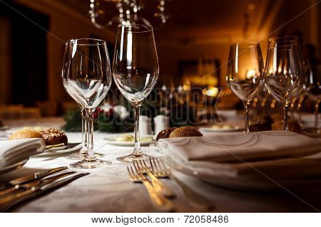 Table setting for celebration