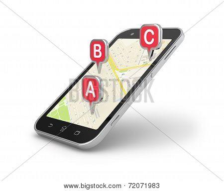 Smart Phone Mobile Navigation.