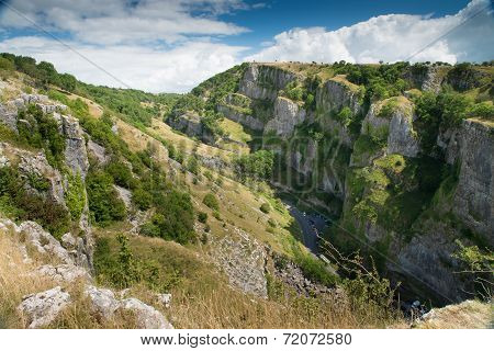 View from top of Cheddar Gorge, Somerset, United Kingdom poster