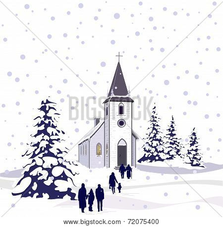 Winter Church White