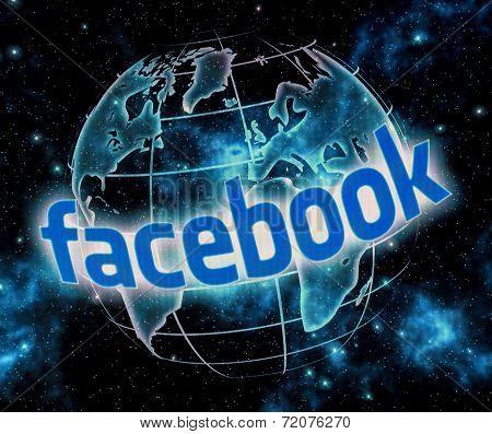 Belgrade - September 09, 2014 Social Media Website Facebook Logo On Computer Screen Close Up