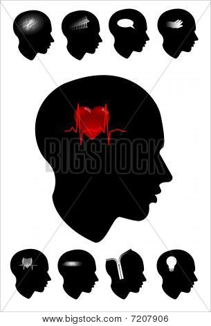 heart profile head