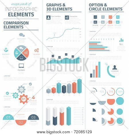 Infographic business vector elements collection