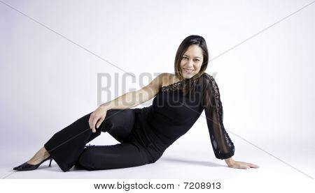 Woman Sitting Sideways