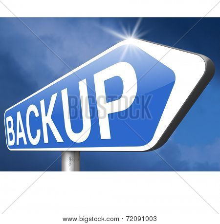 Backup data and software on copy in the cloud on a harddrive disk on a computer or server for file security. Copying document for safe storage.