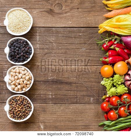 Cereals, Legumes And Vegetables