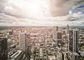 aerial view of Frankfurt am Main, Germany poster