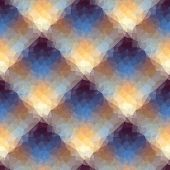 Seamless background pattern. Geometric diagonal plaid of triangles. poster
