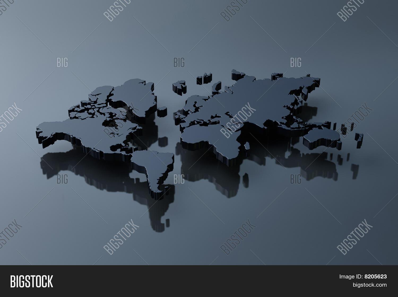 Plain World Map Image Photo Free Trial Bigstock