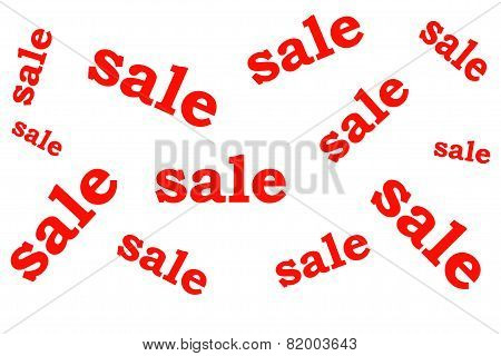 Advertising banner with the inscription sale and discount red lettering