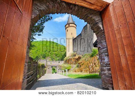 Gates of Vianden castle