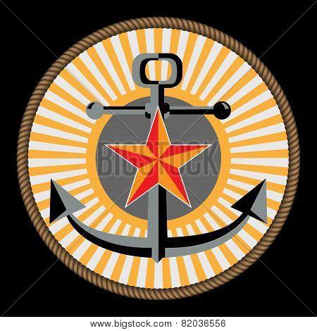 Navy and marine corp emblem