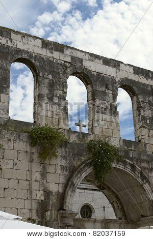 architectural ruins of Croatia, Split, square Diocletian