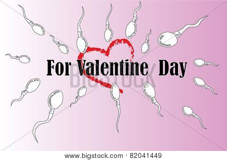 Vector parody valentine day