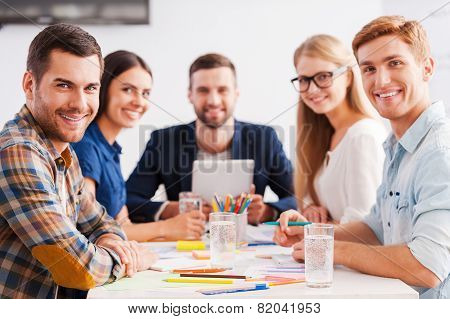 Confident And Creative Team.