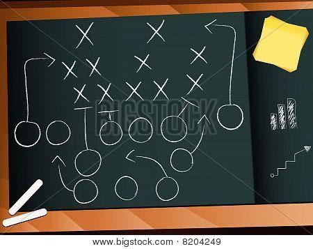 Vector Teamwork Football Game Plan Strategie