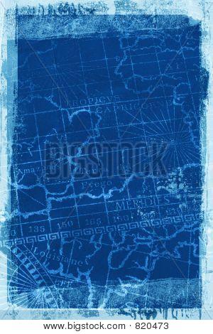 Grunge Map background texture