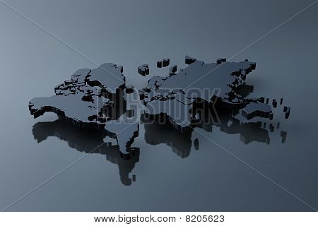 Plain world map